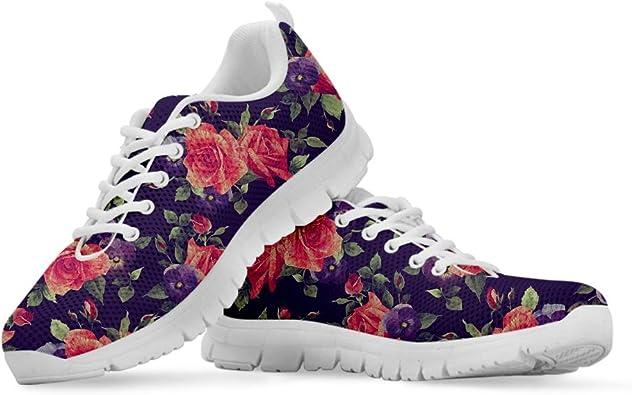 Coloranimal Beauty Rose - Zapatillas de Running para Correr, Transpirables, de Malla, Informales, para Correr, Color, Talla 45 EU: Amazon.es: Zapatos y complementos
