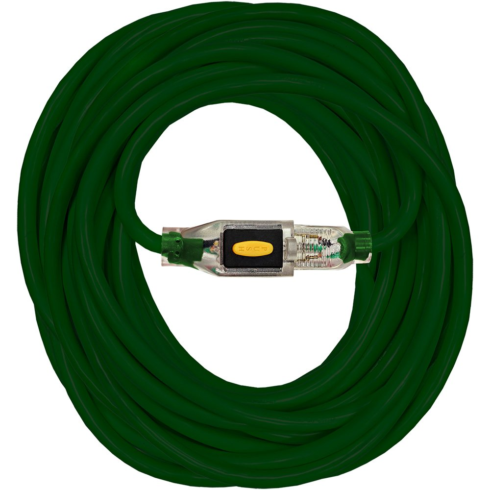 Serpentec 630-163080L50 Extension Cord Stay Lighted Locking Plug Indoor/Outdoor 16/3 80 ft, 16-gauge, Green by Serpentec