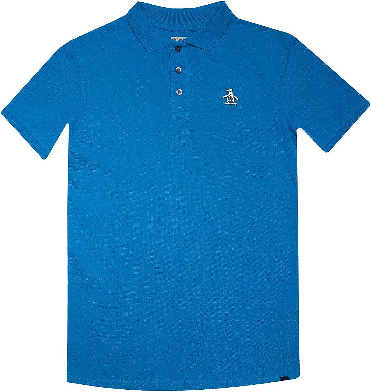 Penguin Niños Polo Camiseta Mykonos Azul Siglos 7 Años-15 Años ...