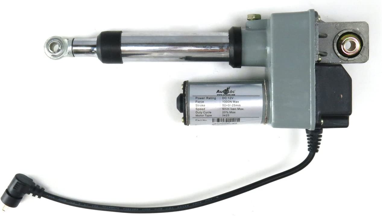 AutoLoc Power Accessories 9780 2 Capacity Adjustable Linear Actuator With Rod Bearing, 200 lbs
