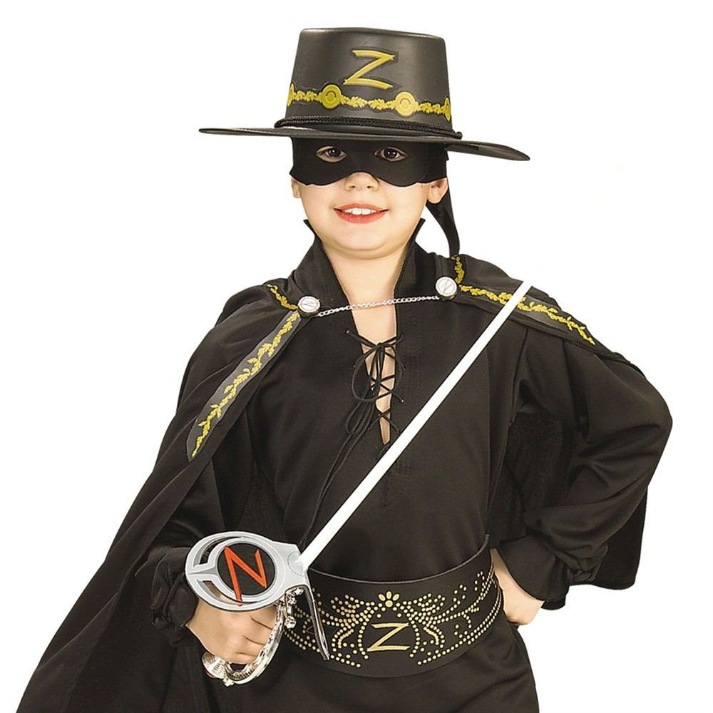 Generique , Kit Zorro spada, maschera e cappello bambini