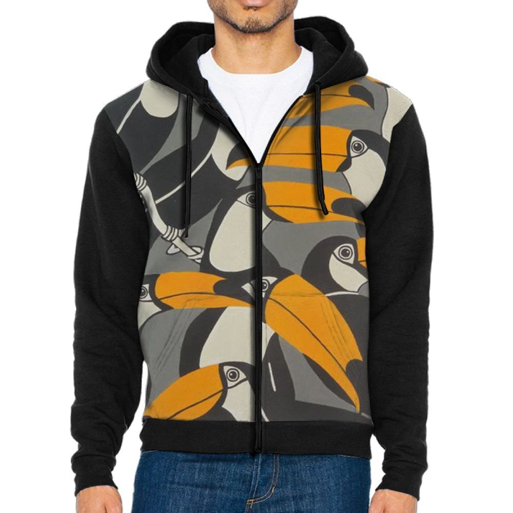 Mars Sight Sweatshirt Mens Toucan Bird Funny Full Zip Up Hoodie Jacket With Pocket