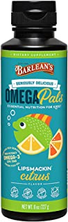 product image for Barlean's Seriously Delicious Omega Pals High Potency Fish Oil Lipsmackin' Citrus, 8 Ounce