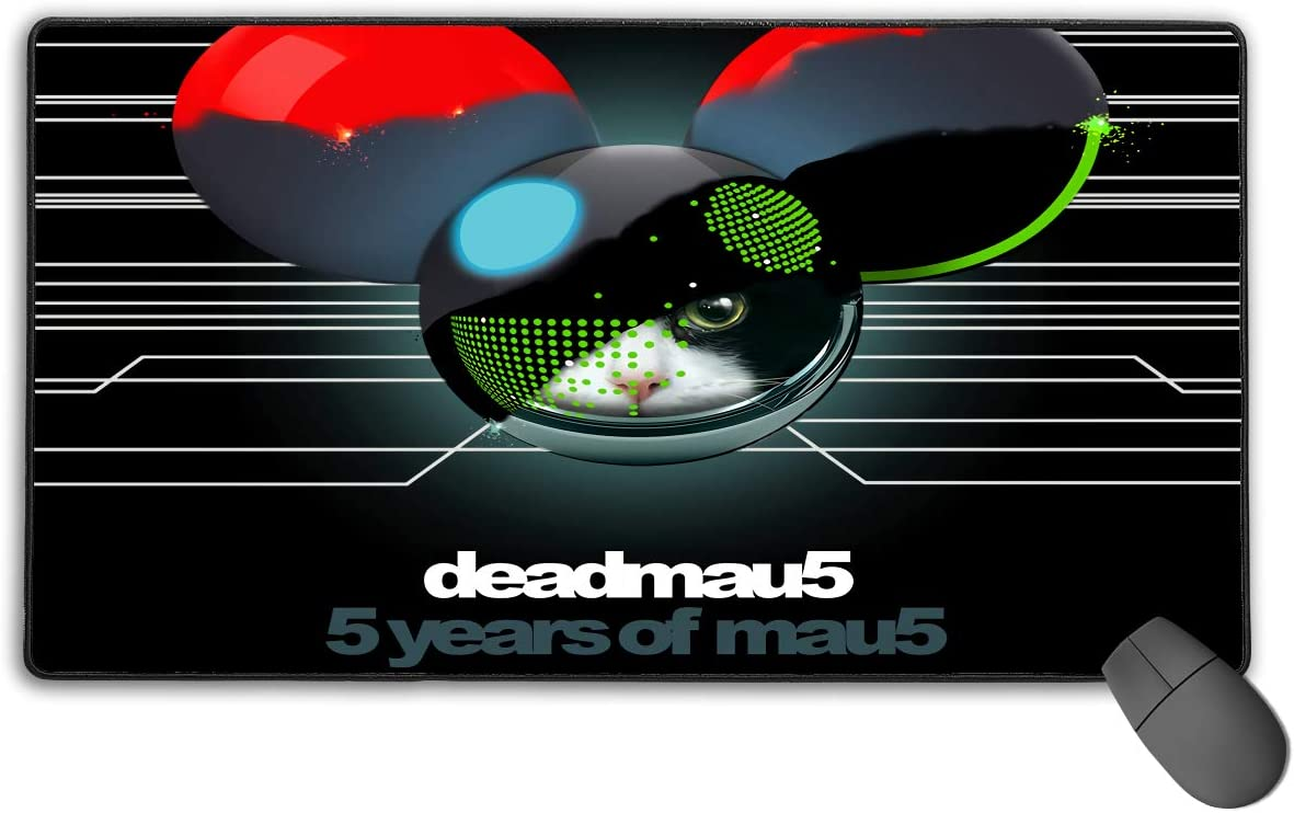 Adam B George Deadmau5 5 Years of Mau5 Non-Slip Base Keyboard Large Gaming Mouse Pad Comfortable Laptop Thick Game Console Waterproof
