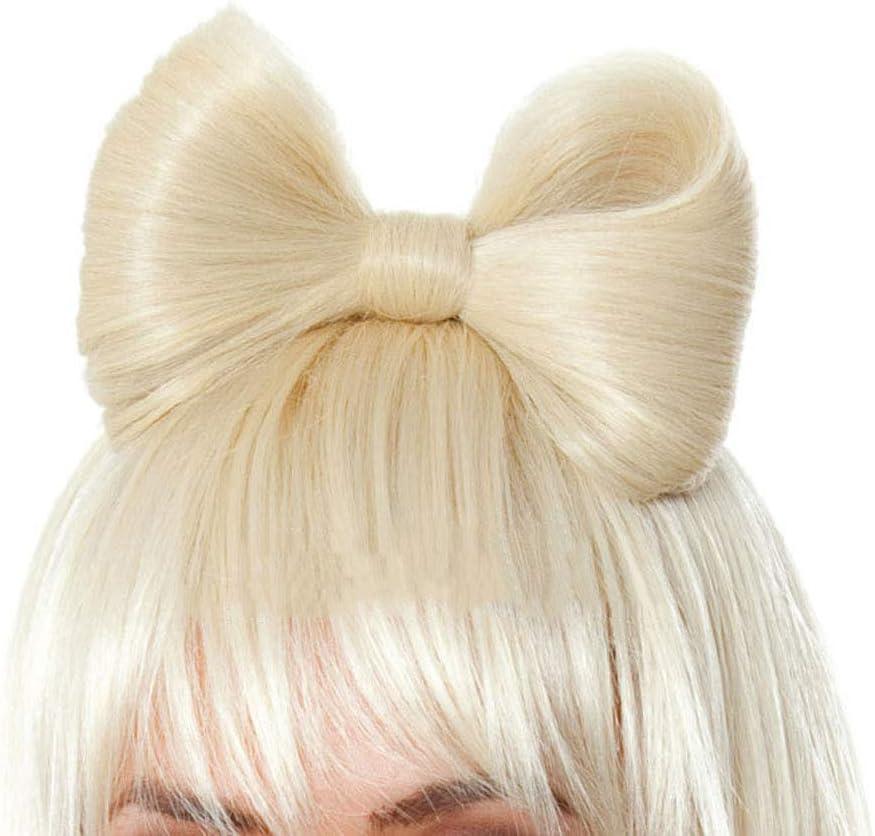 Sexy Larga y recta Peluca de pelo Arco Lady Gaga Celebrity Disfraces Disfraz Sin encaje Rocker Pop Star Plata Peluca blanca Postizo para mujer: Amazon.es: Belleza