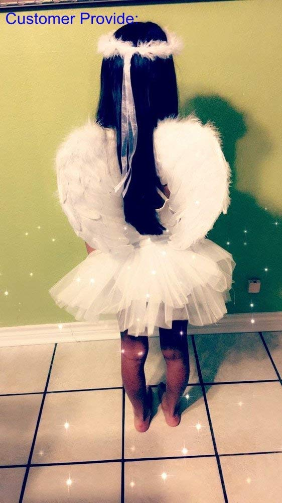 bcf9caf859b6 Amazon.com: RUIZSH Angel Feather Wings and Halo Headband for Cosplay, Party  Costumes, White: Toys & Games