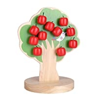 Zerodis Wooden Early Educational Toy Magnetic Apple Tree Math Puzzle for Kids Children Baby's Hands and Brain Capacity