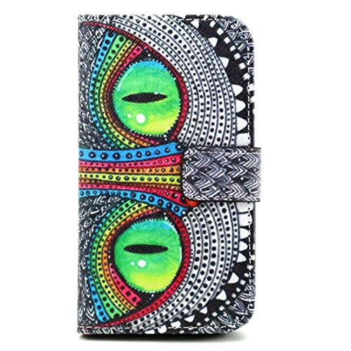 Samsung Galaxy Core Prime G360 / Prevail LTE Case, Vogue Shop PU Leather Wallet Case [Stand Feature] Type Magnet Design Flip Case Cover (Built-in Credit Card/ID Card Slot) (hawkeye)