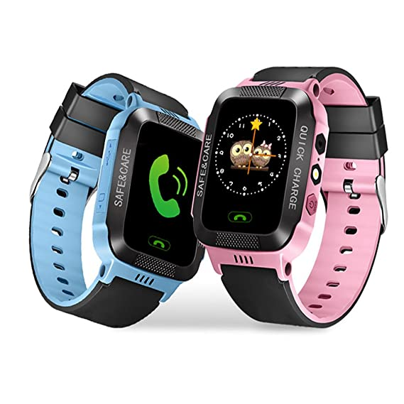 Kids SmartWatch with Camera Lingxin LBS Tracker for Boys Girls Touch Screen Anti-lost Alarm