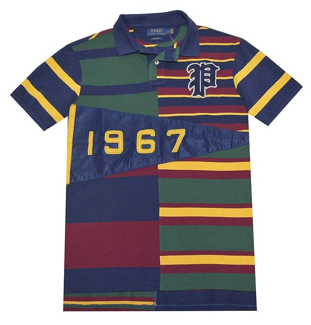 Polo Ralph Lauren Mens Custom Fit Pennant Mesh Polo Shirt French