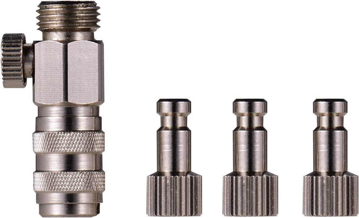 Entweg Quick Disconnect Coupler,Airbrush Quick Disconnect Coupler Release Fitting 3pcs Male Fitting 1//4 Inch BSP Female for Paasche Airbrush