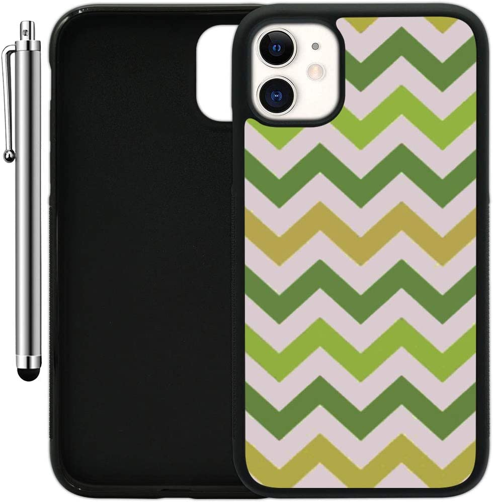 "Custom Case Compatible with iPhone 11 (6.1"") (Colorful Printed Patterned) Edge-to-Edge Rubber Black Cover Ultra Slim 