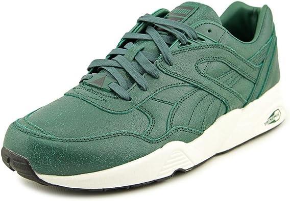 Puma Mens R698 Trinomic Green Running Shoes 6 M US