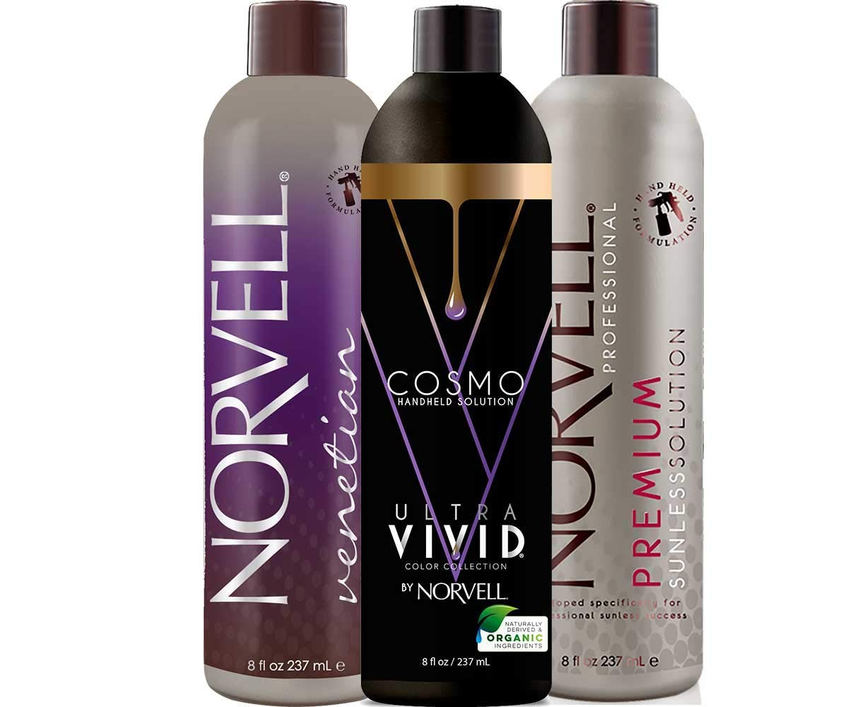 Norvell Sunless Kit - Z3000 Professional Mobile HVLP Spray Tan Airbrush Machine System + 8 oz Tanning Solutions in Ultra Vivid 'Cosmo', Venetian & Dark + Norvell Training Program (Retail Value $1,150) by Norvell (Image #3)