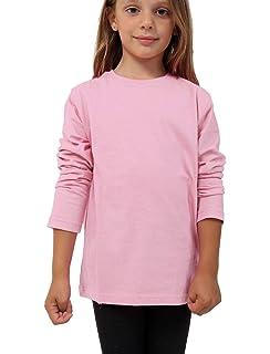New Kids Basic Plain Top Girls Long Sleeve Stretch Teen Uniform Fit T-Shirt