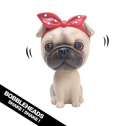 5d92949ee56 Amazon.com  YGMONER Nodding Dog Ornaments Mini Bobble-Head Toys for Car  Decoration (Pug)  Toys   Games