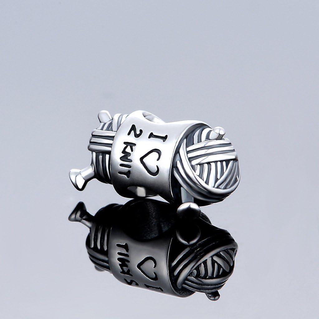 Argent sterling 925 breloque en argent perles Lady Bracelet accessoires Fit serpent cha/îne Bracelet Bracelet pendentif