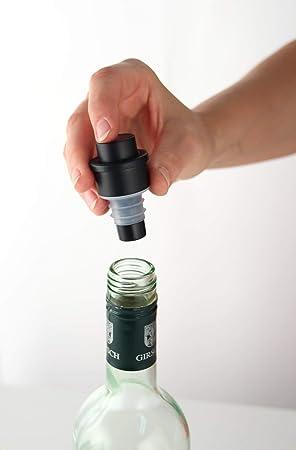 Fackelmann Tapón con Bomba de vacio, conservar Vino, Silicona, Centimeters