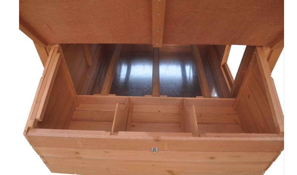 Ardinbir 62'' Deluxe Huge Solid Wood Chicken Coop / Hen House Duck Poultry Rabbit Hutch Cage with 6 Nesting boxes by Ardinbir (Image #7)