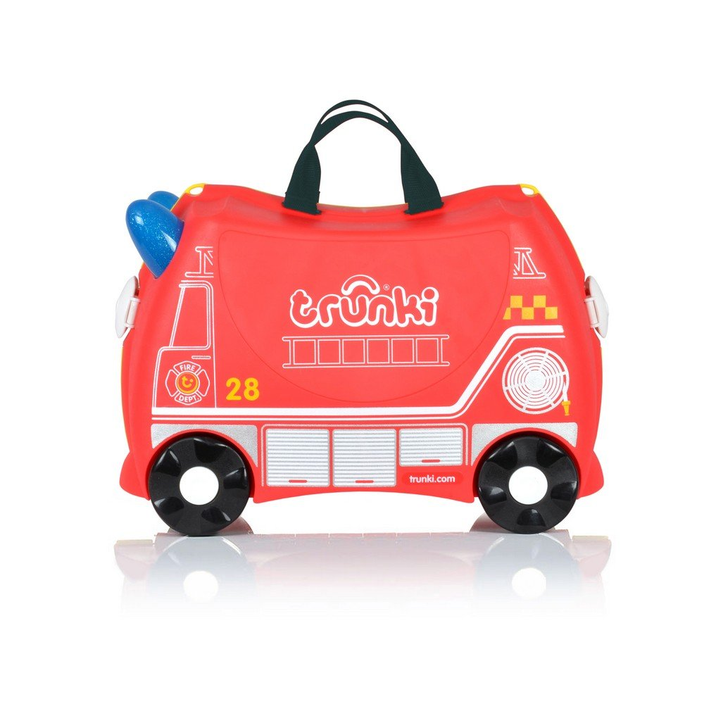 e5d502173b22 Trunki Children s Ride-On Suitcase   Hand Luggage  Frank Fire Engine (Red)   Amazon.co.uk  Luggage