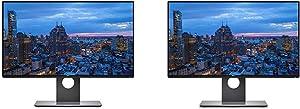 Dell Ultrasharp 24 inch Infinity Edge Monitor - U2417H, Full HD 1920 X 1080 at 60 Hz|IPS, Anti-Glare with Hard Coat 3H & U2417H UltraSharp 24'' LED-Backlit LCD Monitor, Gray