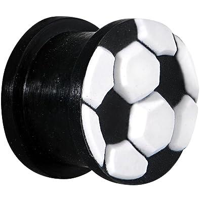 1,43 cm de silicona de color negro y blanco balón de fútbol de la ...