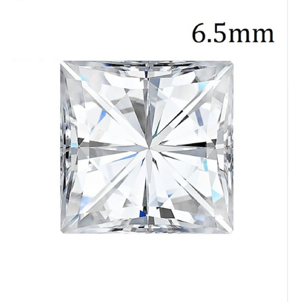 GOWE Certified 1.5CT Carat VS DEF Color Princess Square Brilliant Cut CC Forever One Loose Moissanite Diamond Gems Stones For Jewelry