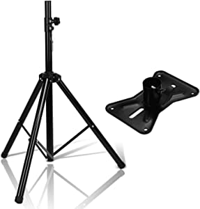 Speaker Stand, AGPTEK Adjustable Height from 37 Inches to 71 Inches Heavy Duty Tripod, Speaker Stand Mount Holder for Home Theater, Recording Room, Studio, Party, Wedding and Meeting,1 Pack