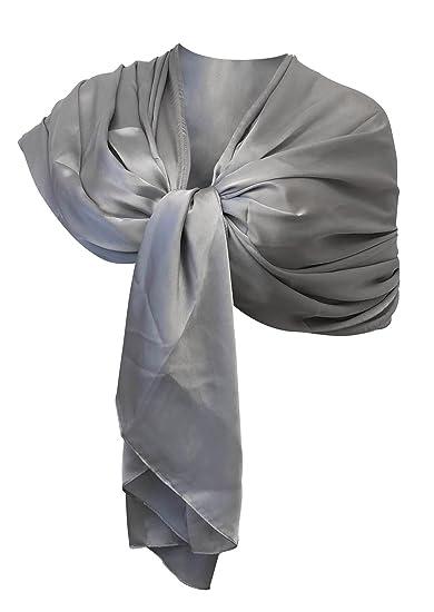 finest selection b5fcb c8071 LTP Elegante maxi SCIARPA Scialle Foulard,da Donna Ragazza Coprispalle  Stola Cerimonia in Seta 11 Colori Tinta Unita