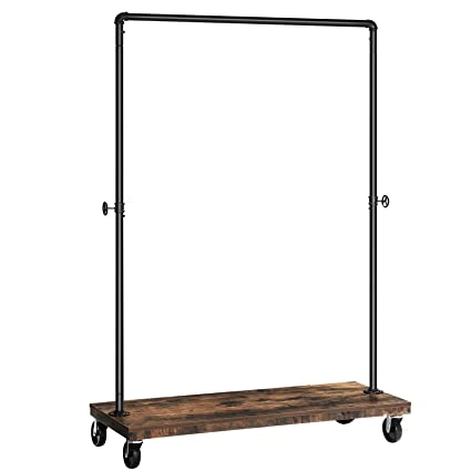 Amazon.com: SONGMICS Clothes Rack, Industrial Pipe Style Rolling