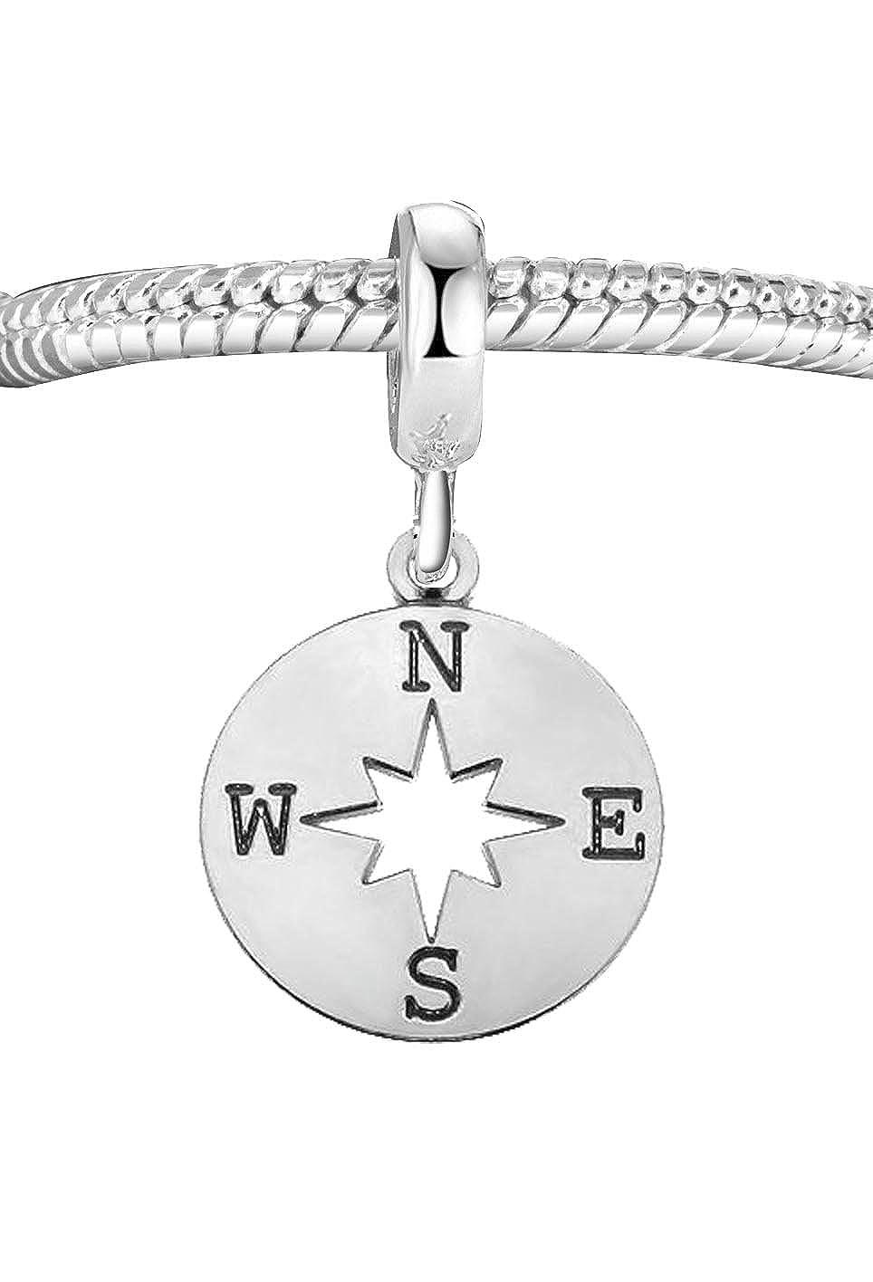 Véritable argent sterling 925Boussole Perle charm) Eurojewellery odl114b