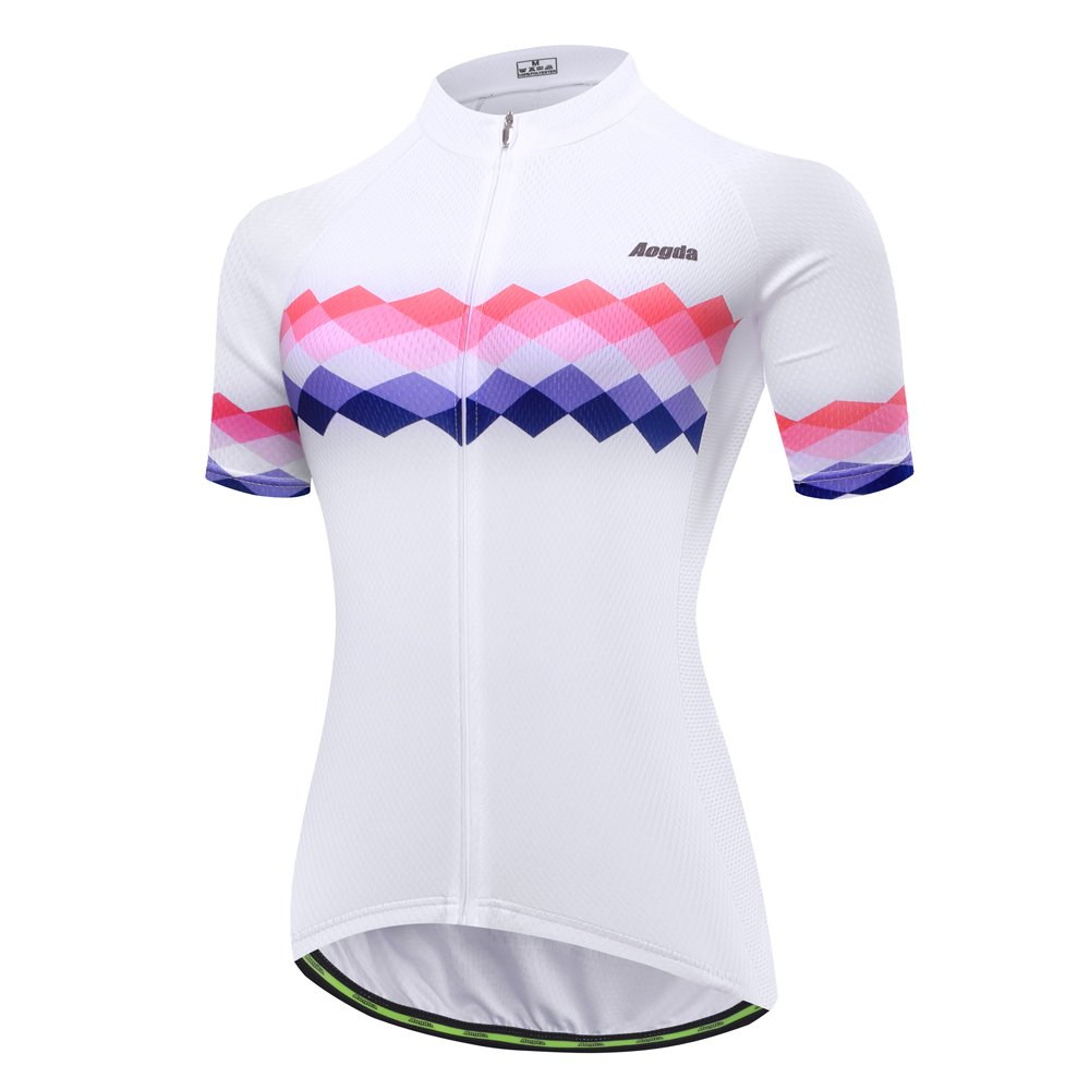 Cycling Jersey Women Aogda Bike Shirts Bicycle Jacket Biking Tights Clothing (015B, L) by Cycling Jersey Women
