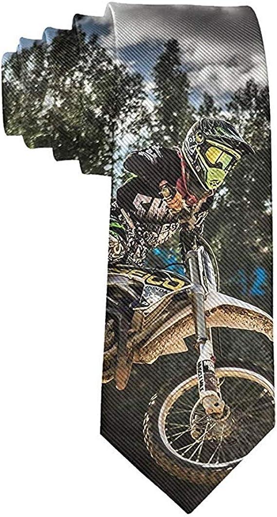WILHJGH Corbata Corbatas divertidas Motocross colorido Deporte ...