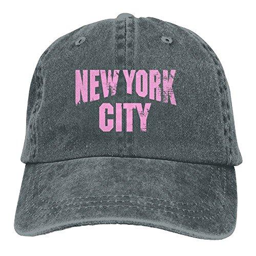 Arsmt New York City Pink Denim Hat Adjustable Unisex Low Baseball Hat