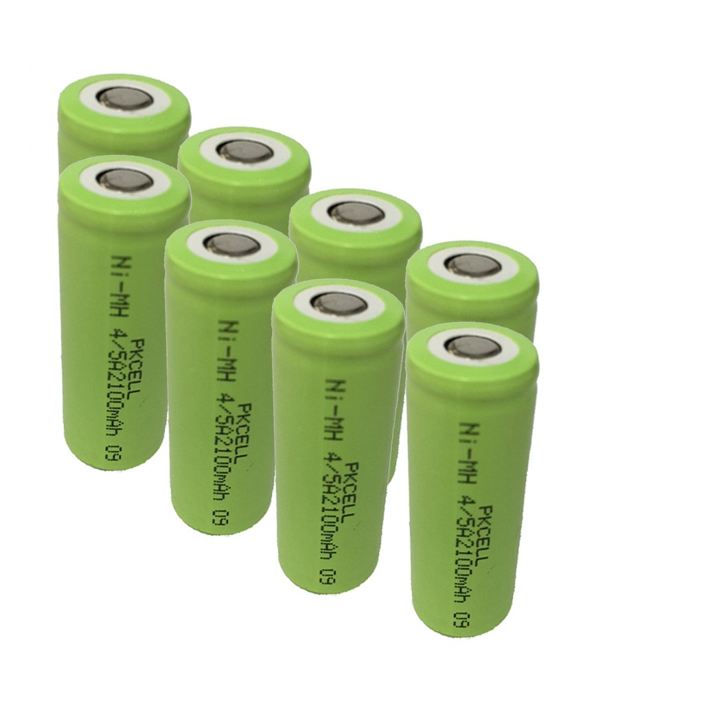 4/5A Size NiMH Rechargeable Battery 2100mAh 1.2V Flat Top Cell for Exit Lights