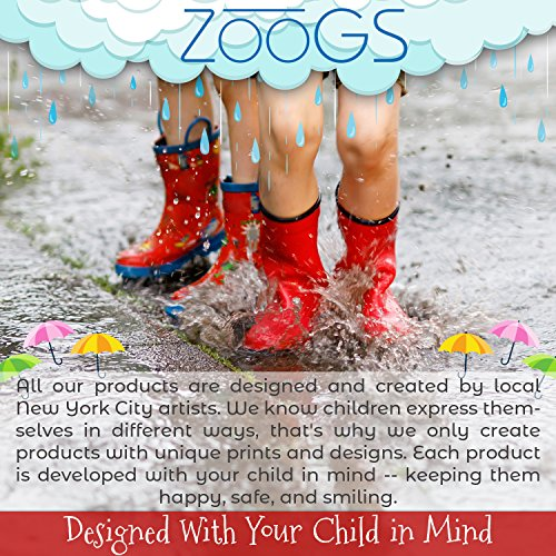 ZOOGS Children's Rubber Rain Boots, Little Kids & Toddler, Boys & Girls Patterns by ZOOGS (Image #7)