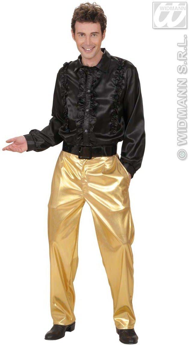 70s Disco Stoffhose gold Gr. XL