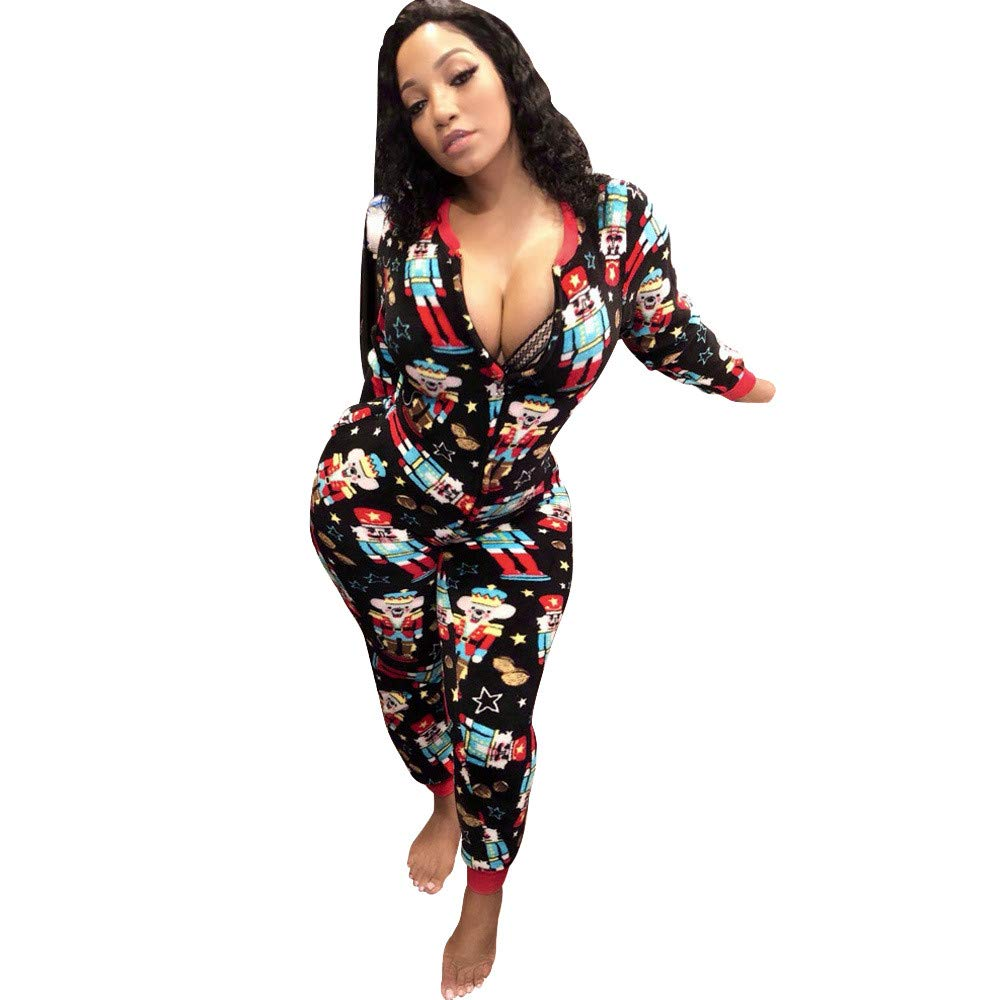 Plus Size Christmas Pajamas.Amazon Com Christmas Women Sexy Sleepwear Lovewe Christmas