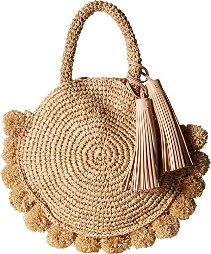 - Loeffler Randall Women's Straw Circle Tote, Natural, One Size