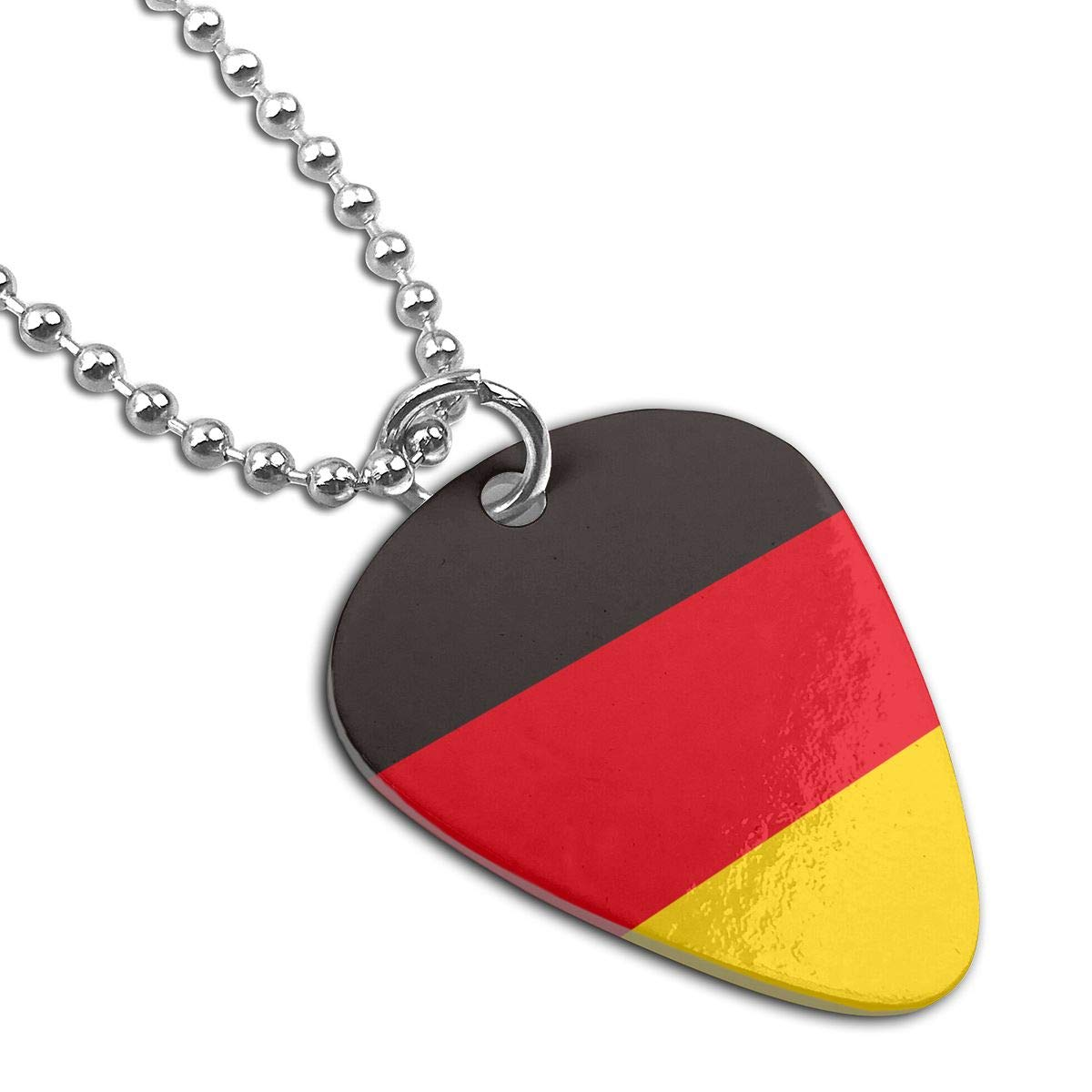 Sheery Germany Flag Dog Tag Pendant With Guitar Bassiform