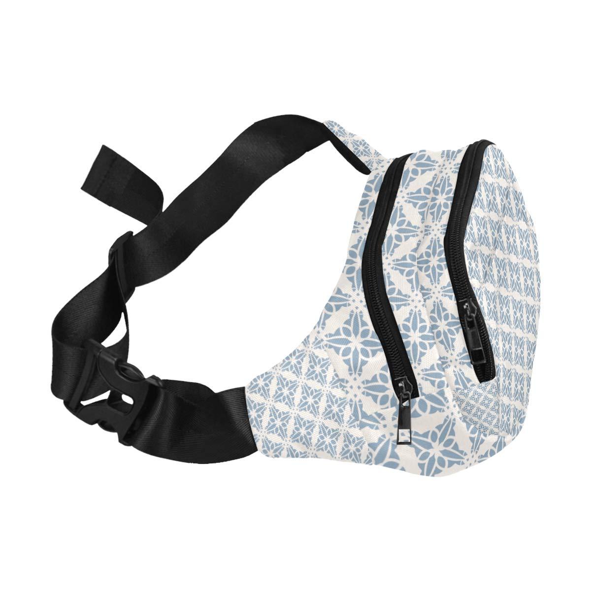 Floral Of Six Diamond Petals Fenny Packs Waist Bags Adjustable Belt Waterproof Nylon Travel Running Sport Vacation Party For Men Women Boys Girls Kids