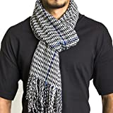 Alpine Swiss Mens Plaid Scarf Soft Winter Scarves Unisex,Black Plaid,One Size