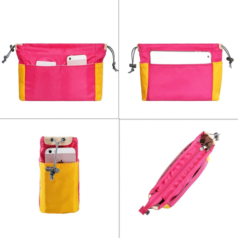 Joqixon Taschenorganizer aus Nylon Farbabstimmung Handtaschen Organizer Bag in The Bag f/ür Damen,Innentaschen f/ür Handtaschen mit Rei/ßverschluss