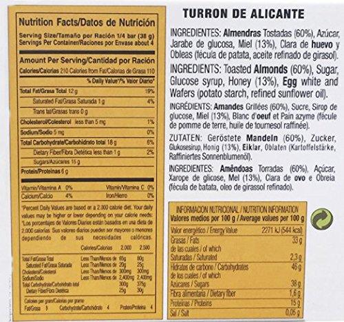 El Lobo Almond & Honey Brittle Turron de Alicante 150g 16 Pack by El Lobo