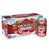 Arrowhead Sparkling Water, Summer Strawberry, 12 oz. Cans (Pack of 8)