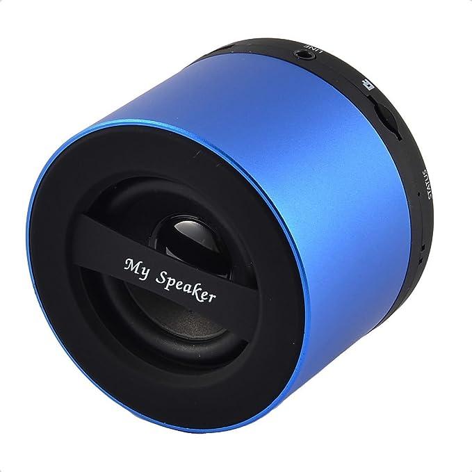 Amazon.com: eDealMax Manos libres portátil inalámbrico recargable Transmisión de Audio Bluetooth Altavoz Azul: Home Audio & Theater