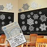 Snowflake Silver & White Cutouts - 30 Pack