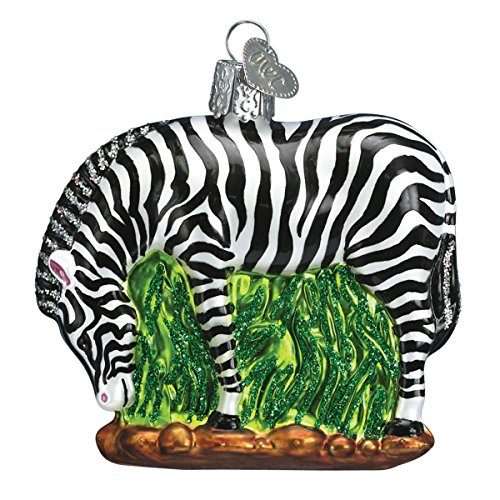 Old World Christmas Ornaments: Zebra Glass Blown Ornaments for Christmas Tree