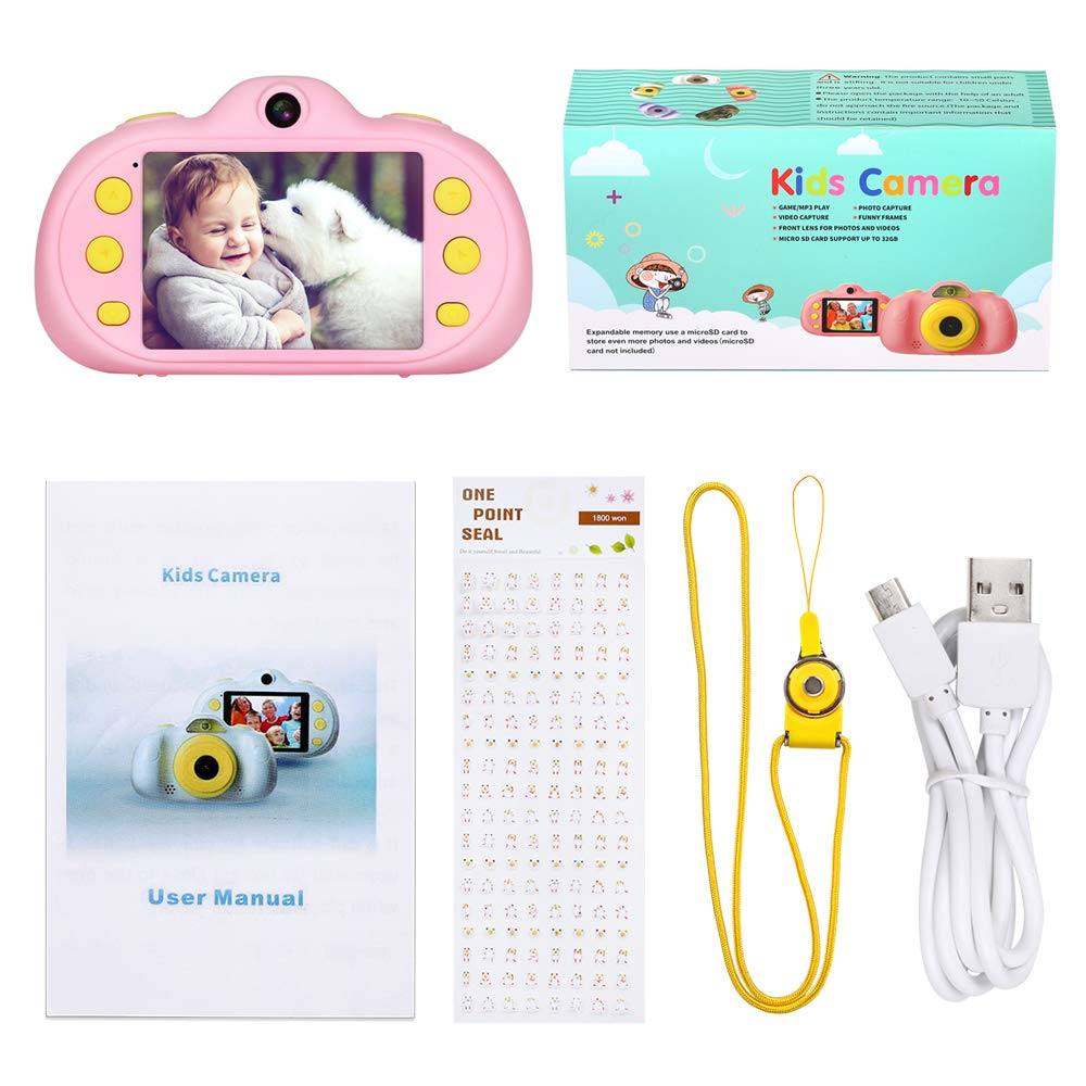 Kids Camera Toy Gift for 3-9 Year Old,BIUBLE 2.4'' HD 1080P Child Digital Camcorder Soft Silicone Shell Shockproof Multifunction Rechargeable Video Camera with Puzzle Game MP3 by BIUBLE (Image #7)