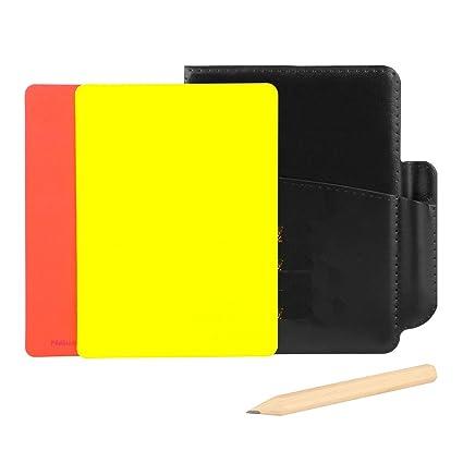 Tarjetas de advertencia de árbitro Tarjeta roja amarilla ...